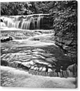 Black And White Cascade Canvas Print