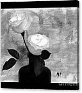 Black And White Rose Canvas Print
