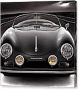 Black Porsche Speedster Canvas Print
