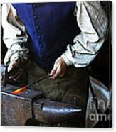 Blacksmith At The Old Fort Canvas Print