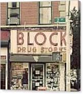 Block Drug Store Canvas Print