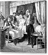 Blood Transfusion, 1874 Canvas Print