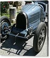 Blue Bugatti Oldtimer Canvas Print