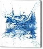 Blue Fresh Water  Canvas Print