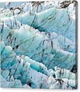 Blue Glacier Ice Background Texture Pattern Canvas Print