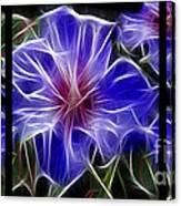 Blue Hibiscus Fractal Canvas Print