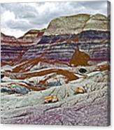 Blue Mesa Trail In Petrified Forest National Park-arizona Canvas Print