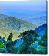 Blue Ridge Parkway National Park Sunset Scenic Mountains Summer  Canvas Print