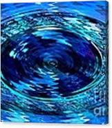 Blue Saffire Brooch Swirl Canvas Print