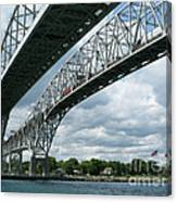 Blue Water Crossing Canvas Print