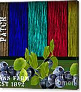 Blueberry Patch Canvas Print
