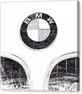 Bmw Z3 Emblem In Black Canvas Print