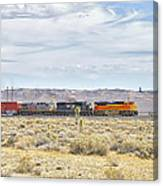Bnsf 9112 Westbound From Boron Canvas Print