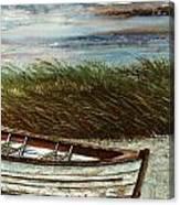 Boat On Shore Canvas Print