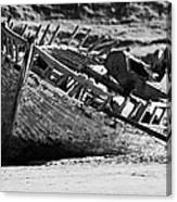 boat wreck on bunbeg beach in gweedore gaeltacht county Donegal Republic of Ireland Canvas Print