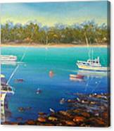 Boats At Merimbula Australia  Canvas Print
