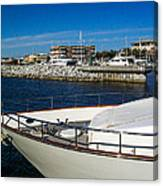 Boats In Port Canvas Print