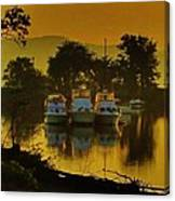 Boats On Bowline Pond Canvas Print