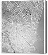 Bogota Street Map - Bogota Colombia Road Map Art On Colored Back Canvas Print