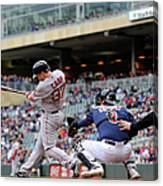 Boston Red Sox V Minnesota Twins Canvas Print