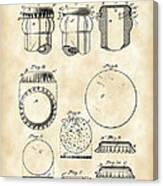 Bottle Cap Patent 1892 - Vintage Canvas Print