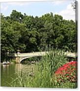 Bow Bridge Over The Lake Canvas Print