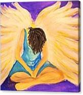 Bowing Angel Canvas Print