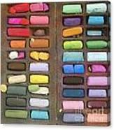 Box Of Pastels Canvas Print