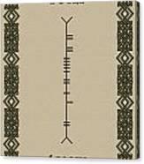 Boyle Written In Ogham Canvas Print