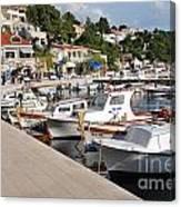 Brela Harbour Croatia Canvas Print