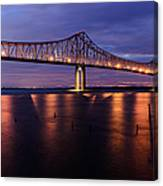 Commmodore Barry Bridge In The Blue Hour Canvas Print