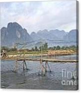 Bridge In Vang Vieng Laos Canvas Print