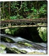 Bridge Over Mountain Stream Canvas Print