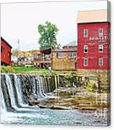 Bridgeton Mill And Covered Bridge Canvas Print
