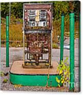 Broken And Abandoned Fuel Pump Canvas Print