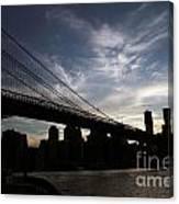 Brooklyn Bridge Sunset Canvas Print