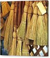 Brooms For Sale Canvas Print