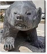 Badger Statue 4 At Uw Madison Canvas Print