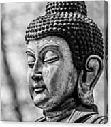 Buddha - Siddhartha Gautama - In Black And White Canvas Print