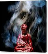 Buddha In Smoke Canvas Print
