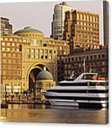 Buildings At The Waterfront, Boston Canvas Print