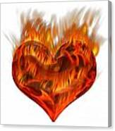 Burning Love  Brennende Liebe Canvas Print