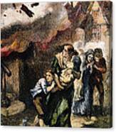 Burning Of Norfolk, 1776 Canvas Print