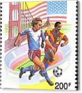 Burundi Stamp Canvas Print