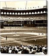Busch Stadium - St Louis 1966 Canvas Print