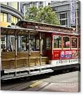 Cable Car On Turntable San Francisco Canvas Print