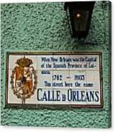 Calle Orleans Canvas Print