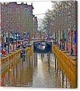 Canal Of Delft Canvas Print