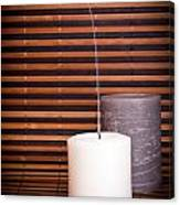 Candles And Bamboo Canvas Print