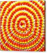 Candy Corn In Circles Canvas Print